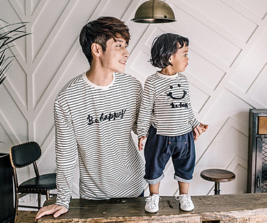 Happy Dagara Family Dad and Baby long sleeve_16C15