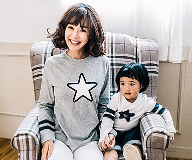 Star Line family mother and baby long sleeve_16C13