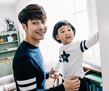 Star Line daddy and baby long sleeve_16C13