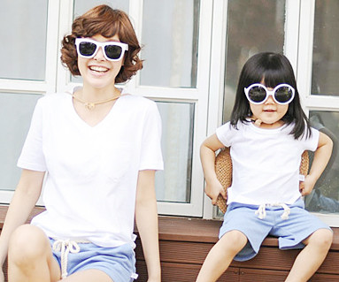 Clean Clean mother and baby short T-shirts_13B28