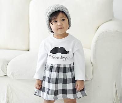 Modern Check Family baby long sleeve_16A05