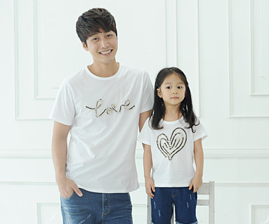 "Denim Rope round dad and baby short T-shirts_14B31 <font color=""#FF6666""><strong>[Order available]</strong></font>"