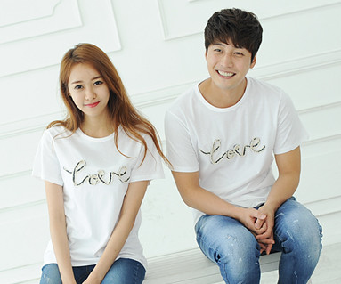Denim Rope round Couples short T-shirts_14B31