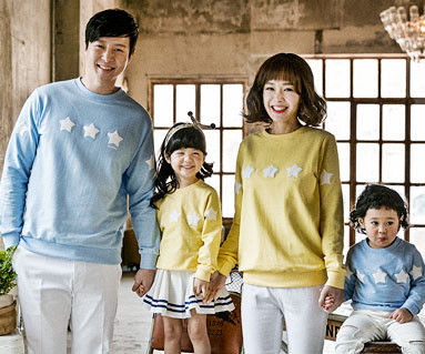 Star Pompon family long sleeve_17A05