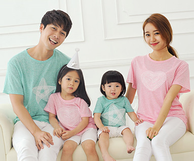 Twin stitch round short T-shirts_14B26