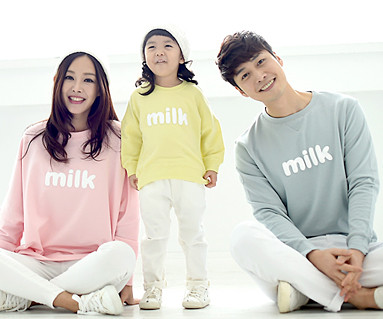 Milk Man to man family long sleeve_16A09
