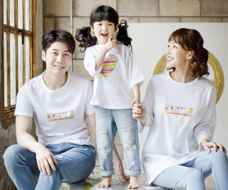 Rainbow Love family short T-shirts_17B03