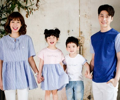 Cotton blur thumb st family short T-shirts_17B04