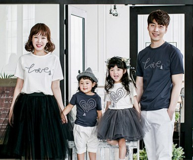 Logo tassel family short T-shirts_17B05