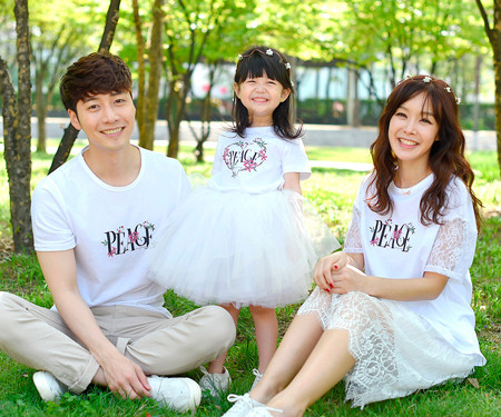 Piece Flower family short T-shirts_16B14