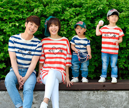 Cupid's family short T-shirts_17B05