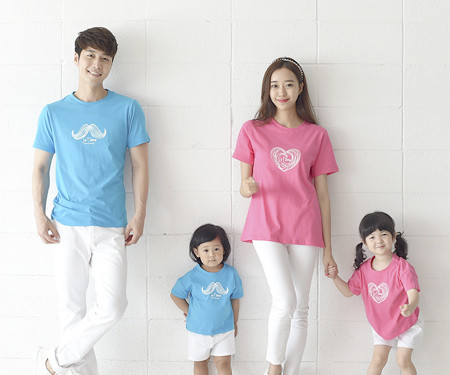 Pounding round family short T-shirts_16B22