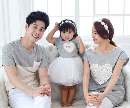 Cotton family short T-shirts_15B15