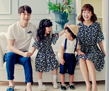 Flower family short T-shirts_17B12