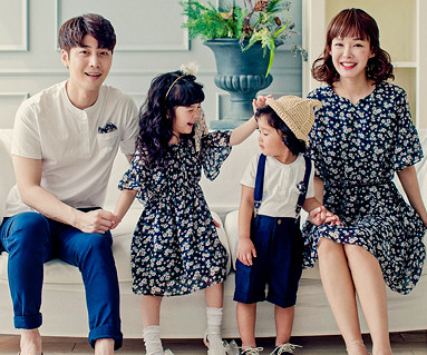 Flower family short T-shirts_17B12