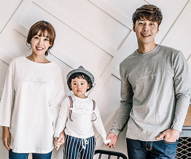 Love suspenders point family long sleeve_16C08