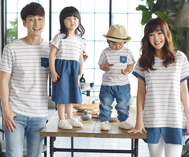 Eye blue family short T-shirts_16B05