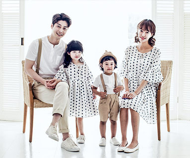 "<font color=""ffffff"">[Family T & family look] <br></font> Mariang family short T-shirts_17B22"