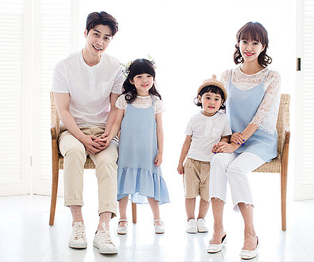 "<font color=""ffffff"">[Family T & family look] <br></font> Soft family short T-shirts_17B14"