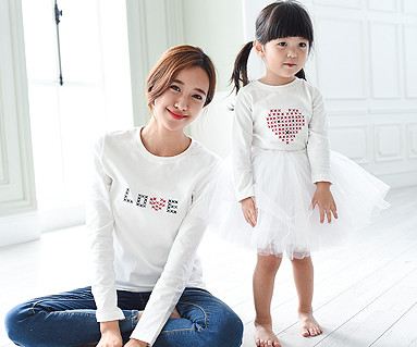 Stitch Round Mom and Baby long sleeve_15C06