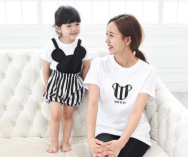 Mini family Mom and baby short T-shirts_15B28