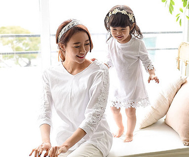 Morning family mom and baby long sleeve_15A11