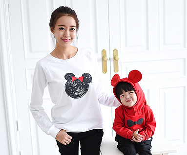 Mini mouse family mom and baby long sleeve_14C08