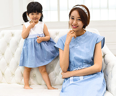 Windy family Mom and baby short T-shirts_15A06