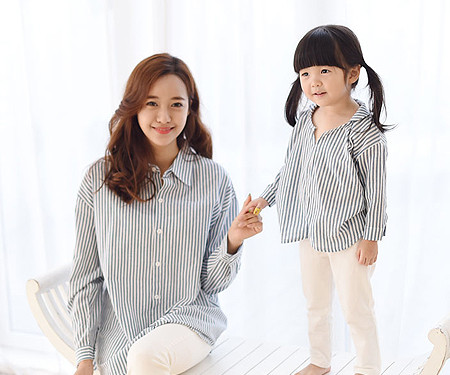 "Indigo southern mother and baby long sleeve_15C05 <font color=""#FF6666""><strong>[Order available]</strong></font>"