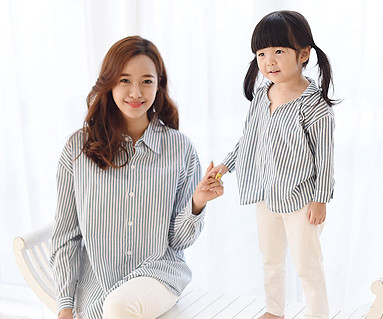Indigo southern mother and baby long sleeve_15C05