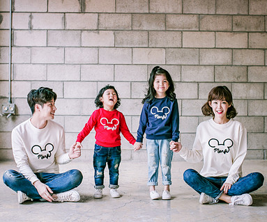 "<font color=""ffffff"">[Family Man to man & unisex] <br></font> Monty Mouse Man to man family long sleeve_17C06"