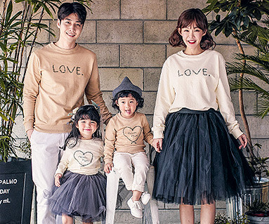 "<font color=""ffffff"">[Family One-man & Unisex] <br></font> Lot Love family long sleeve_17C07"