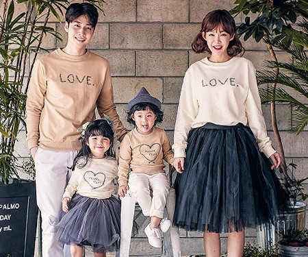 "[Family One-man & Unisex] <font color=""ffffff""><br></font> Lot Love family long sleeve_17C07"