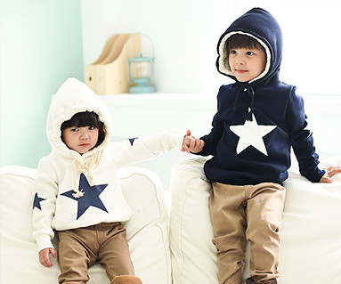 Brushed all-star hooded baby long sleeve_14D12