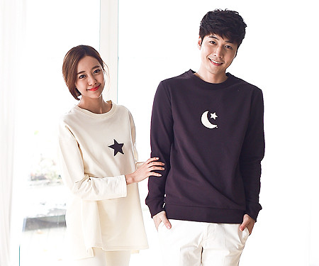 Brushed Monthly Couples long sleeve_15D10