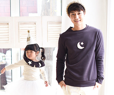 Brushed monthly dad and baby long sleeve_15D10