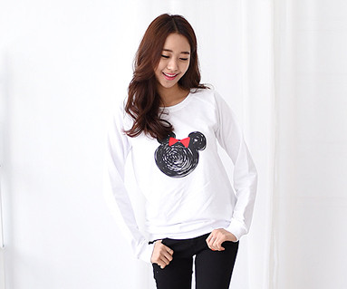 Mini mouse family female long sleeve_14C08