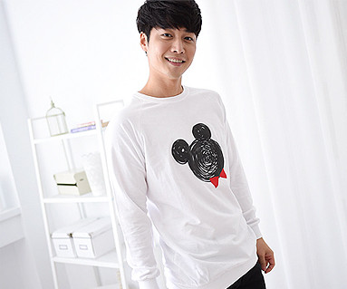 Mini mouse male long sleeve_14C08