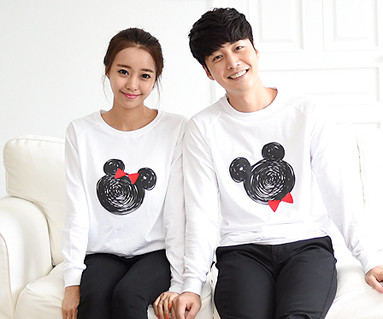 Mini mouse Couples long sleeve_14C08