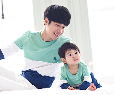 Trinity Man to man Daddy and baby long sleeve_15A01