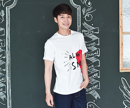 Couple Heart Men's short T-shirts_16B21