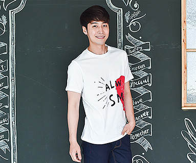 "Couple Heart Men's short T-shirts_16B21<font color=""#FF6666""><strong>[Order available]</strong></font>"