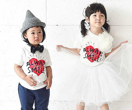 "Couple heart baby short T-shirts_16B21 <font color=""#FF6666""><strong>[Order available]</strong></font>"