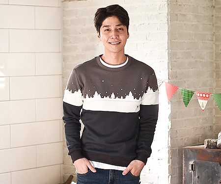 Brushed winter kingdom man-to-man male long sleeve_16D11