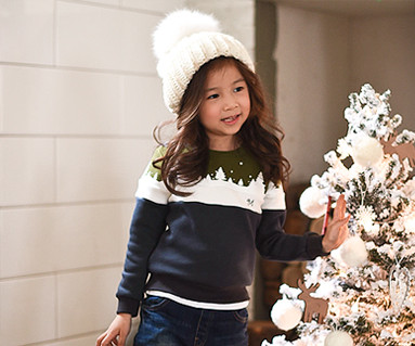 Brushed winter kingdom one-man baby long sleeve_16D11
