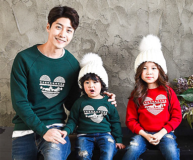 Brushed Chris man-to-man daddy and baby long sleeve_16D07