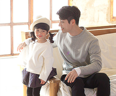Koi Shirring Family dad and baby long sleeve_16D16