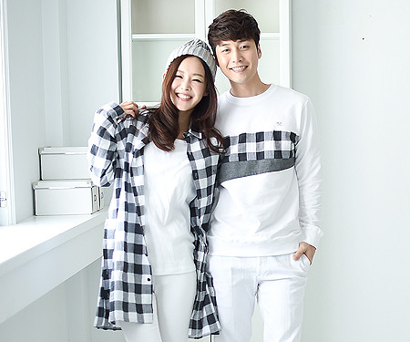 "Modern Check Couples long sleeve_16A05 <font color=""#FF6666""><strong>[Order available]</strong></font>"