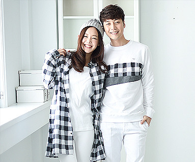 Modern Check Couples long sleeve_16A05