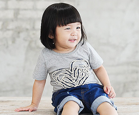 Denim Rope round baby short T-shirts_14B31